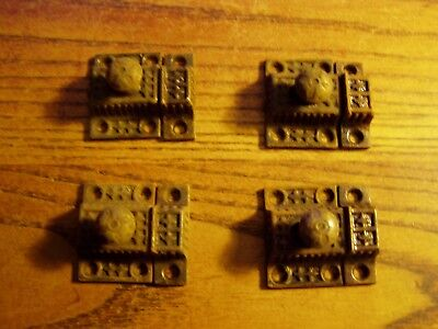 4--MATCHING  Antique victorian Cast Iron Cabinet Cupboard Door Latches