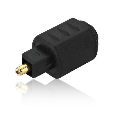Mini TOSLINK 3.5mm Optical Female Jack to TOSLINK Optical Audio Adapter