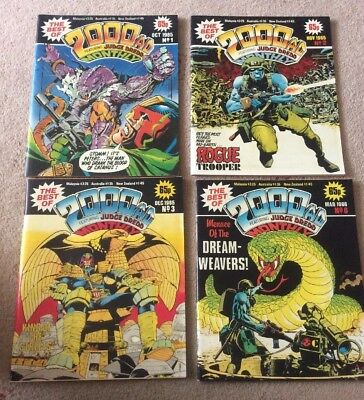 The Best of 2000 AD Monthly comic issues 1 2 3 & 6 Judge Dredd Rogue Trooper VGC