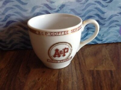 Demitasse coffee china cup. A & P Food Stores advertising souvenir. Ships free.