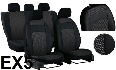 Vw Passat B8 Saloon Trendline 2014 On Eco Leather & Fabric Tailored Seat Covers
