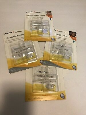 4 Pack SEALED Medela Contact Nipple Shield M 24mm - Brand New Free Shipping