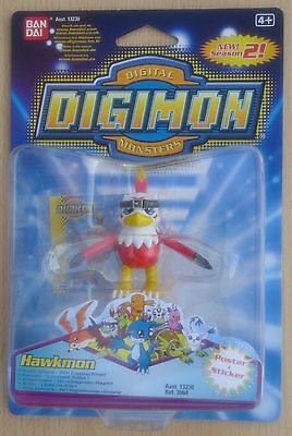 Ban Dai 13230 Ref 3964 - Digimon Digital Monsters 2 Figur Hawkmon (Neu & OVP)