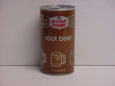 Vintage Hyde Park Root Beer Crimped Steel Pull Tab Bottom Opened Soda Can