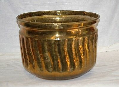 Old Vintage Large Hammered Brass Swirl Planter Home Garden Tool by Jack Housman