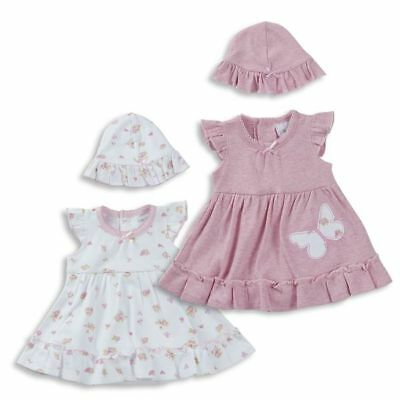 Premature Baby Girl Clothes Dress bodysuit hat Pink White up to 5lb up to 8lb