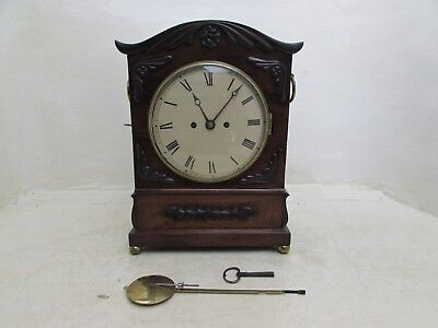 Regency Rosewood Cased Twin Fusee Striking Bracket Clock Fully Working
