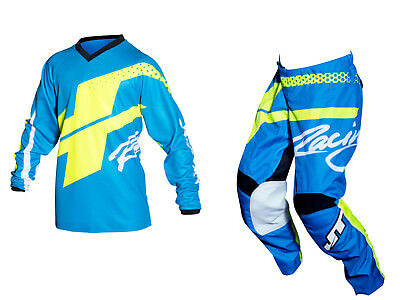 Youth MX Gear, JT Racing USA-2018 Youth Flex Hi-Lo Jersey & Pants , Navy/Yellow