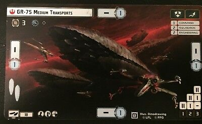 Star Wars Armada GR-75 Medium Transports Alternate Art Card