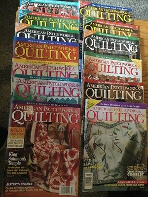 Lot 12 American Patchwork & Quilting Magazines 1994-1998