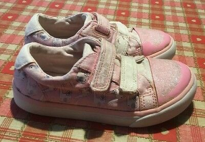 772106a1c40 GIRLS CLARKS Leather Cruiser Shoes Infants Size 2.5 G Little Jam ...