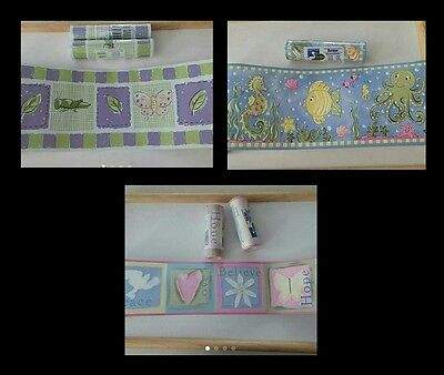 Lot of WALLPAPER BORDER Rolls, Pattern of Your Choice, MADE IN USA/CANADA