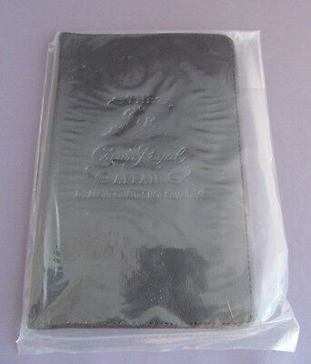 Brand New! Genuine Black Leather Crown Royal Passport Id Holder Document Money