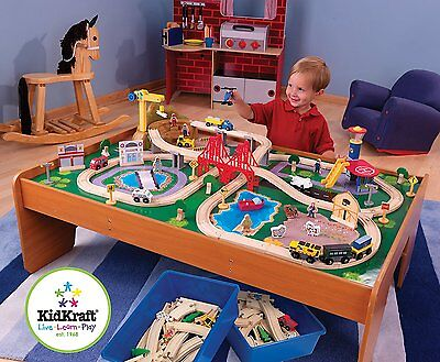 Thomas The Train Compatible Wooden Table Set Kids Toys Small Railway Track Brio  sc 1 st  PicClick & THOMAS THE TRAIN Compatible Wooden Table Set Kids Toys Small Railway ...