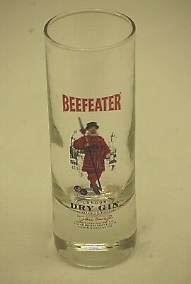 Advertising Ad Beefeater Dry Gin Shot Glass Tall Shooter Travel Barware Souvenir
