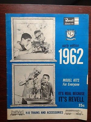 1962 Revell Early Edition Model Kits Catalog, planes trains cars trucks