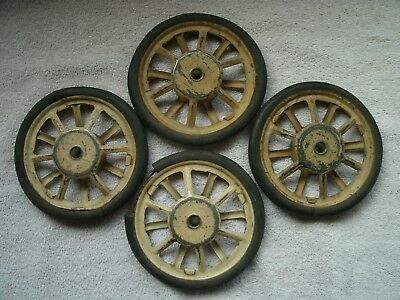 Vintage spoke style Carriage Buggy Peddle car wheels set of 4 yearly 1900's