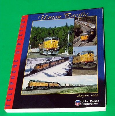 Union Pacific Corporation,(Railroad} Telephone Directory Dated: August 1999