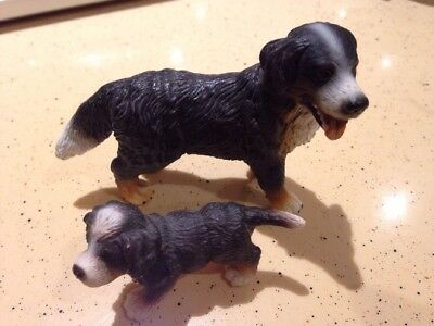 Schleich Adult And Puppy Bernese Mountain Dog