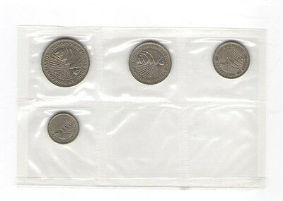 1954-62 Nicaragua 4 Coin Type Set  Brilliant Uncirculated Mint Sealed