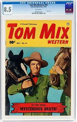 TOM MIX #34 CGC8.5  VF+, with HORSE TONY, GOLDEN AGE WESTERN CELEBRITY