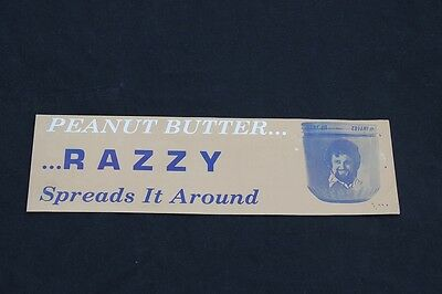 **** Razzy Bailey Bumper Sticker!- Peanut Butter- Vintage, Country Music ( *_~ )