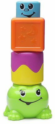 Fisher Price Stack N Surpise Blocks Peek-a-Boo Frog - NEW