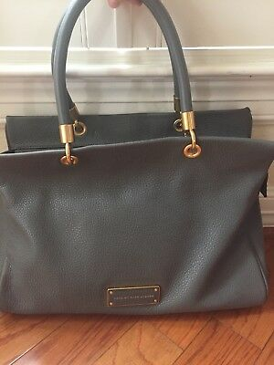 329b94bc7028 Marc by Marc Jacobs Too Hot to Handle Satchel Bag GREY Brass HW EXCELLENT  Condit