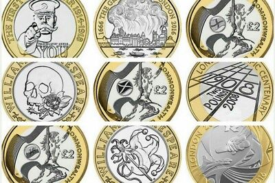 £2 Two Pound Rare Coins Collection Various Commemorative & Rare Commonwealth