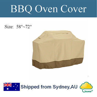 """Clouver@ Waterproof Patio BBQ Cover 58""""~72"""" for 2, 4, 6 Burner Barbecue Grill"""