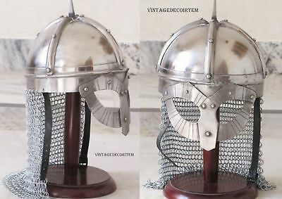 Medieval Viking Spectacle Armour Helmet & Chain mail European gladiator replica