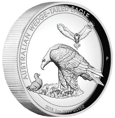 2018 $1 Australian Wedge-Tailed Eagle -1oz Silver Proof high Relief Coin - PM