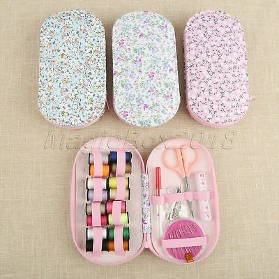 Portable Mini Travel Oval Case Needle 16 Threads DIY Home Set Sewing Tools Kit