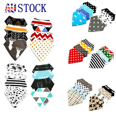 4Pcs Baby Bandana Bibs Kid's Feeding Saliva Drool Towel Dribble Triangle Scarf