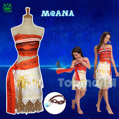 Girls Kid Disney Moana Princess Costume Fancy Dress Cosplay Outfit Au fast ship