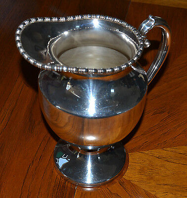 Estate silver on copper Lehman Brothers New York pitcher from 1950's-elegant!