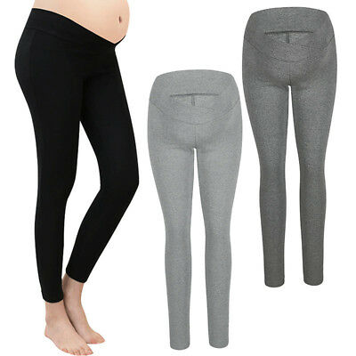 Maternity Leggings Support Belly Relieve Stress Sports Joggers Pregnancy Trouser