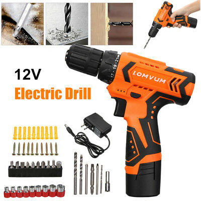 12V Screw Gun Cordless Hand Drill Power Tool Electric Screwdriver Rechargeable
