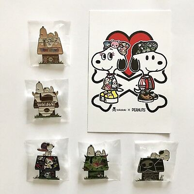 Snoopy x Tokidoki SDCC [COMPLETE SET! ] Limited Edition Collector's Enamel Pins