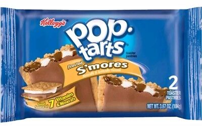USA KELLOGG'S POP TARTS FROSTED S'MORES SMORES TOASTER PASTRIES FOOD 104g 2 PACK