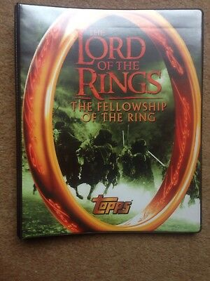 Lord of the Rings Fellowship Of The Rings Topps  Binder Album With 90 Card Set