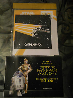 """Star Wars Origami ,enveloppe Pre-Timbree Origami X-Wing    """"serie Limitee"""""""
