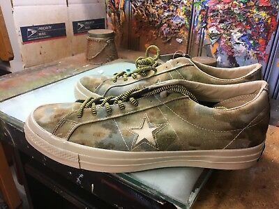 4d86aed6b83c6d Converse One Star OX  74 Brookwood White Pepper Camo Size US 10.5 Men  152666C