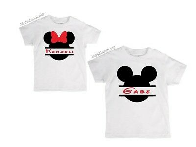 Personalized Mickey Mouse 1st 2nd Birthday T-Shirt 12-18 mo 18-24 mo Minnie