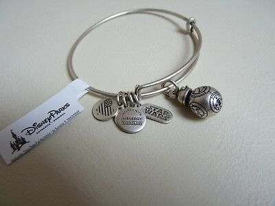 Authentic Disney Parks Alex & Ani Silver Star Wars Bb8 3D Charm Bangle Brand New