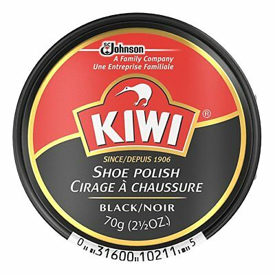 Kiwi Shoe Polish, Black - 2.5 Ounce Tin