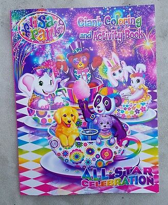 New Lisa Frank Coloring and Activity Book ~ All Star Celebration - New In Hand!