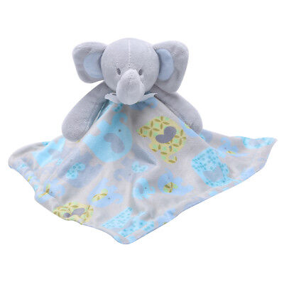 Elephant Plush Baby Towel Pacify Sleeping Security Blanket Stuffed Soft Doll Toy