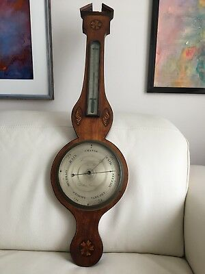 Antique Georgian Mahogany Banjo Barometer, Hatton Garden