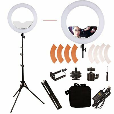 GSKAIWEN 18 inch 240 LED Ring Light Mirror Make Up Beauty Light with Stand for W